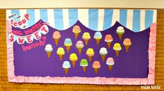 Back to school bulletin board - Miss Lovie: Ice Cream Bulletin Board and Ruffle Border - What's the scoop on so+so's sweet bunch?