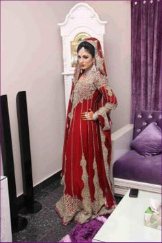 Red Bridal Dresses Collection for Girls 2013 by Naureen Jamal  www.gossipgurus.com