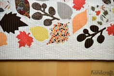 Modern Handcraft - Fall Leaves Table Runner // Silhouette CAMEO // Dear Stella fabric