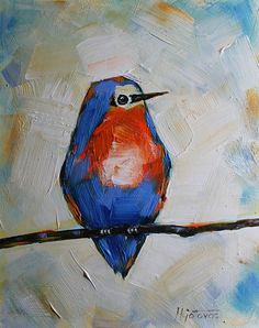 Original Acrylic Painting Daily Painting Modern by mgotovac, $60.00