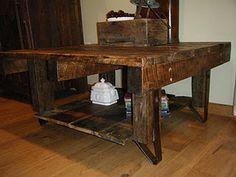 barn board coffee table.