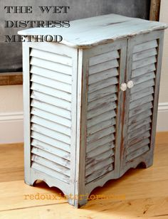 Get the Distressed look without all the work.  Use a damp rag to distress and layer CeCe Caldwell's paints.  I show you how here with Smokey Mountain Gray.   REDOUXINTERIORS.COM FACEBOOK: REDOUX #cececaldwellspaints #cececaldwellssmokeymountaingrey #wetdistress  #distressedfurniture #redouxinteriors #redouxinteriorsmakeover