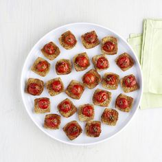 Cherry Tomato Recipe Visit TriscuitSummerSnackoff.com for more inspiration from Martha @TRISCUIT