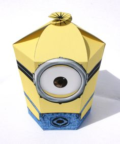 Despicable Me 2  Inspired Minion LARGE Gift Box by Shnookers, $5.00