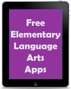 LOOK AT THIS LATER Free Elementary Language Arts Apps | Rachel K Tutoring Blog