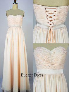 A-line Sweetheart Floor Length Chiffon Prom Dress with Lace-up - Bridesmaid Dresses - Prom Dresses - Long Cihffon Dresses. $78.00, via Etsy.