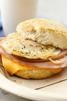 Forget the drive-thru. Easy idea for breakfast, hot lunch or casual supper!