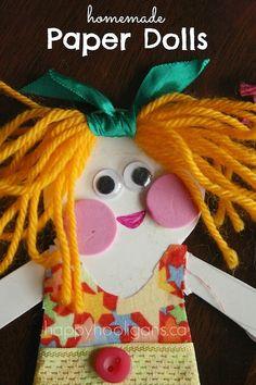Homemade Paper Dolls - happy hooligans