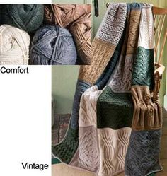 Comfort Afghan Block of the Month Club- knit with Berroco Comfort yarn