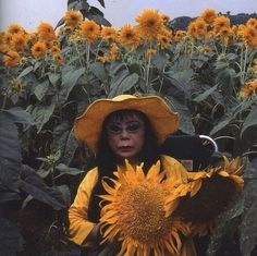 Been ready for Spring 🌻 Yayoi Kusama, 'Flower Obsession Sunflower', Performance, Ibaraki, (2000) @oneofa___kind
