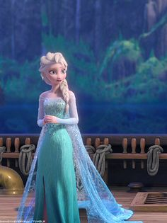 to be honest, i want Elsa's dress for my wedding but in white.