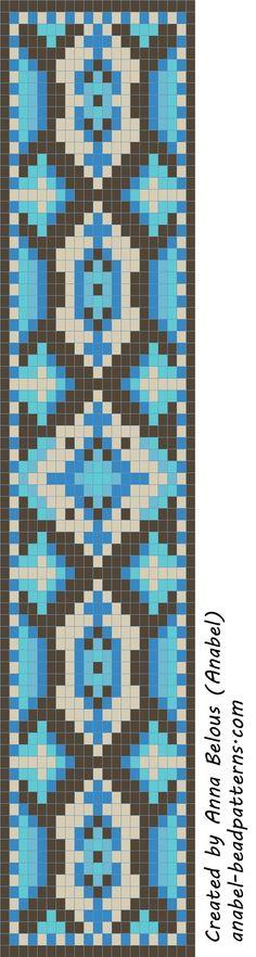 Схема браслета - станочное ткачество / гобеленовое плетение   -Схемы для бисероплетения-