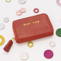"""Bar Tab"" wallet, Bags & Totes – Wine Sisterhood Shop"