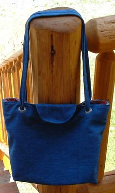 Denim Eyelet Tote tutorial