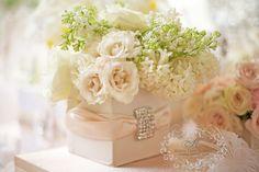 blush color wedding ~ silk wrap with crystal brooch
