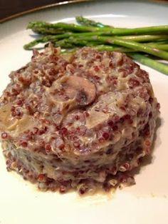 Creamy Quinoa Risotto. Such a good dinner I had last night :) It's ...
