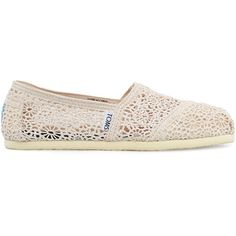 TOMS Classic Crochet shoes found on Polyvore
