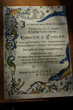 medieval wedding, geek wedding invitations