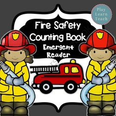 Fire Safety Counting Book - Emergent Reader from PlayLearnTeach-MsDenise on TeachersNotebook.com -  (11 pages)  - Fire Safety Counting Book - Emergent Reader is a beginning reader, counting and coloring booklet.