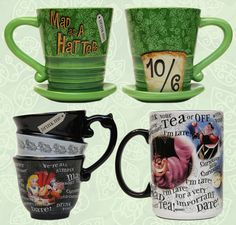 'Alice in Wonderland'-themed Coffee Mugs Available at Disney Parks. LOVE LOVE LOVE!!!!!!!