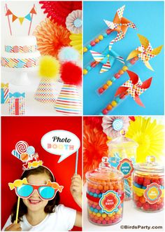 Top 10 Kids Birthday Party Themes for Fall by Bird's Party #candyshoppe #candy #candyland #party