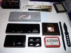 Winsor & Newton Lightweight Sketchers' boxes of 12 and 24  half pans and Bijou Box 3 by betolung, via Flickr