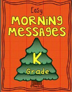 Phonics, Spelling: Morning Message - DECEMBER- Kindergarten #TPT $Paid #Teach123