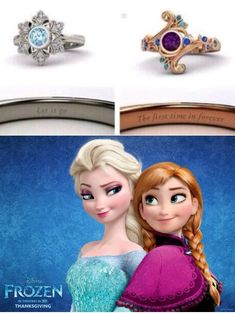 Elsa and Anna rings