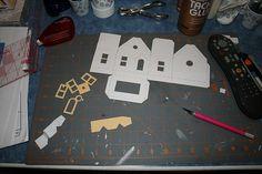 building a putz house  christmasnotebook.com