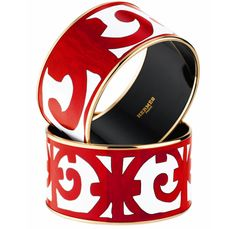 Hermes Balcon du Guadalquivir Wide Enamel Bangle