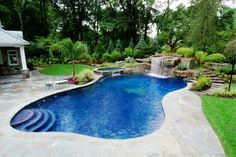 Landscape, Home Swimming Backyard Pool Landscaping Ideas: 35 Inspiring and Eye Catching Backyard Pool Landscaping Ideas