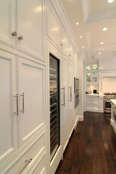 traditional kitchens, cabinet colors, wood floor, dark wood, ceilings, construction, white cabinets, cabinet hardware, white kitchens