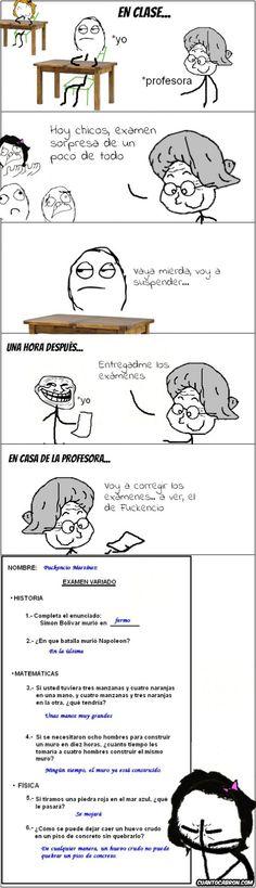 En clases...