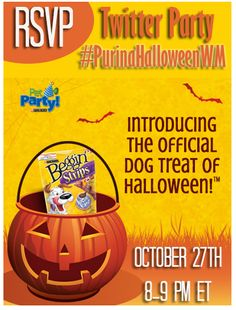 RSVP for the Purina Halloween Twitter Party-Great Prizes! #PurinaHalloweenWM #Ad US 10/27 8-9pm EST #twitterparties