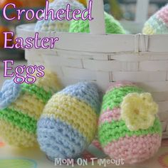 Free Crocheted Easter Egg Pattern -from Mom On Timeout
