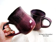 Pottery coffee mug Handmade mug Ceramic mug by Ningswonderworld