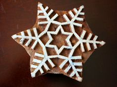 Hand Carved snowflake stamp