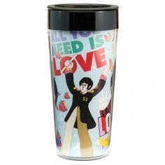 The Beatles Yellow Submarine Travel Mug