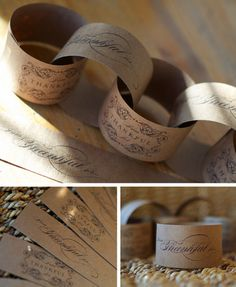 Thanksgiving paper chain - each family member or guest writes what they are thankful for.