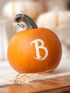 holiday, fall crafts, monogram mini, fall dinner, painted pumpkins, fall pumpkins, mini pumpkin, creativ pumpkin, monogram pumpkin