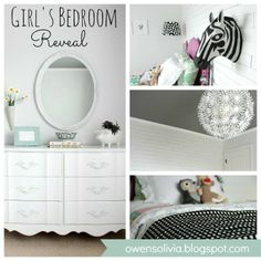 Girls Bedroom Reveal at www.u-createcrafts.com #diy