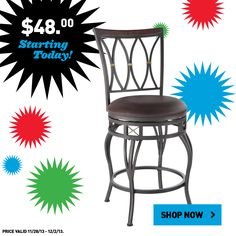 Shop Lowe's Black Friday prices online. This bar stool is just $48 through December 2!