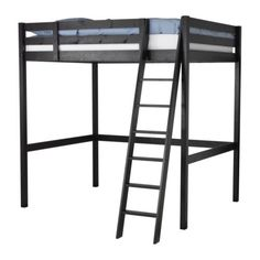 Loft Bed: add tension rods with fabric around the bottom to make a clubhouse?
