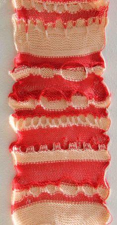 Machine knitted pattern