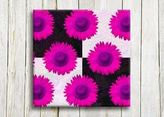 Pink flowers Canvas art 12/12 30/30 cm by OneDesign4U on Etsy, $39.00