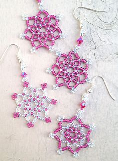 Beaded Snowflakes and Stars
