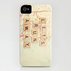 Lets Run Away iPhone case