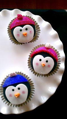 penguin cupcakes ... <3