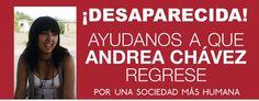 EN MÉXICO se perdió Andrea, una joven de 16 años que vive en Aguas Calientes.