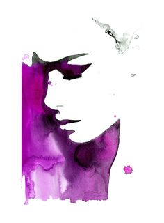 New spin-off colorway of one of my new works, Magenta & Black. Jessica Durrant #watercolor